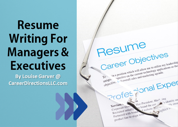 resume writing services for managers executives
