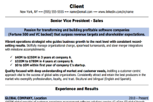 Summary of a Sales Resume - Help With Resume Format