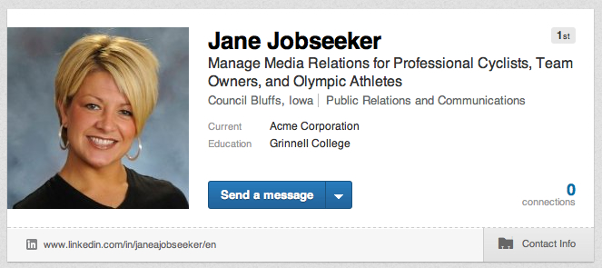 LinkedIn Headline & Profile Example