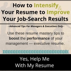 Resume Writing Course for Managers & Executives